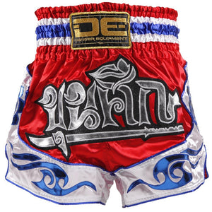 D.E Fit Special Muay Thai Shorts - Red/White/Blue - Fightstore Pro