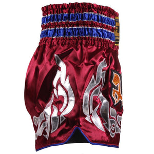 D.E Fit Special Muay Thai Shorts - Maroon/Gold