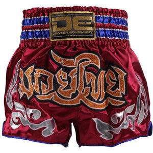 D.E Fit Special Muay Thai Shorts - Maroon/Gold - Fightstore Pro