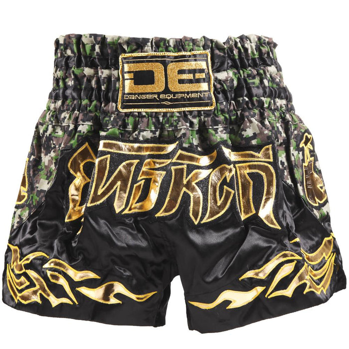 D.E Fit Special Muay Thai Shorts - Camo/Gold