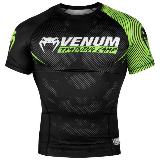 Venum Training Camp 2.0 Short Sleeved Rashguard - Black/Neo Yellow