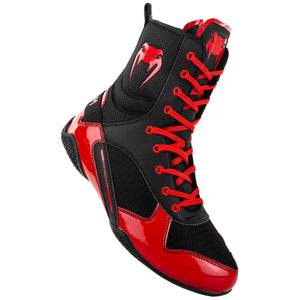 Venum Elite Boxing Boots - Black/Red - Fightstore Pro