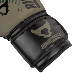 Venum Ringhorns Charger MX Boxing Gloves - Khaki - Fightstore Pro