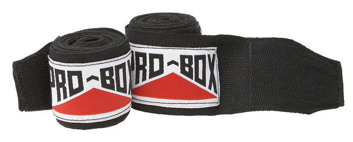 Pro Box Black AIBA Specification Stretchable Hand Wraps Senior