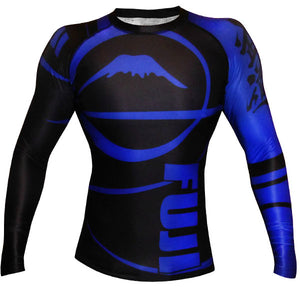 Fuji Sports Freestyle IBJJF Ranked Rashguard Blue Long Sleeve 1