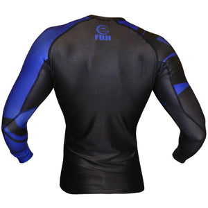 Fuji Sports Freestyle IBJJF Ranked Rashguard Blue Long Sleeve