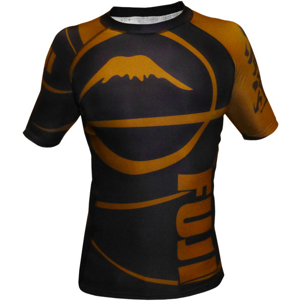 Fuji Sports Freestyle IBJJF Ranked Rashguard Brown Short Sleeve
