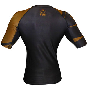 Fuji Sports Freestyle IBJJF Ranked Rashguard Brown Short Sleeve 1
