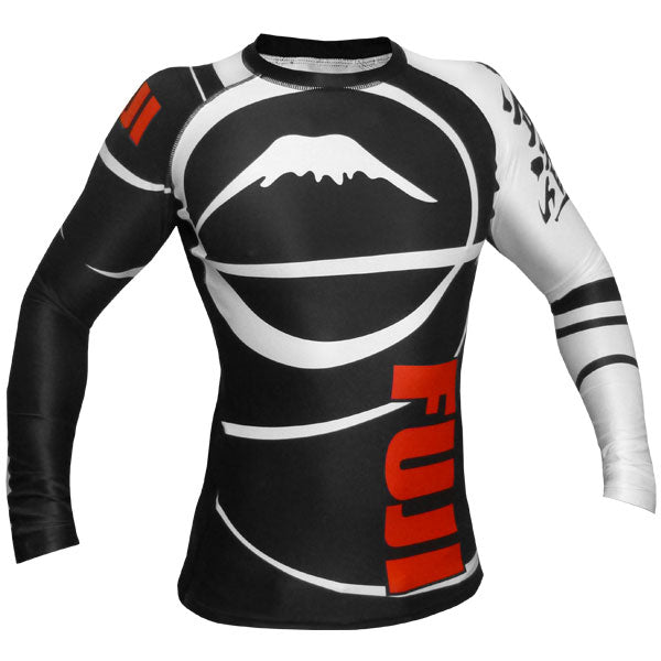 Fuji Sports Freestyle IBJJF Ranked Rashguard Black Long Sleeve