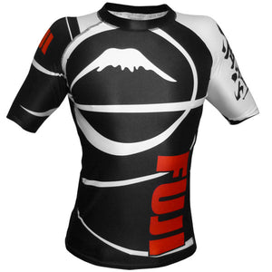Fuji Sports Freestyle IBJJF Ranked Rashguard Black Short Sleeve