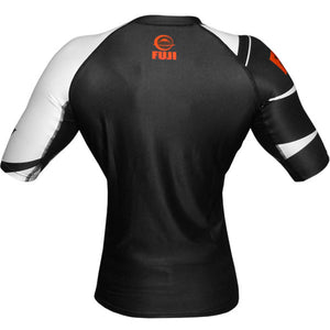 Fuji Sports Freestyle IBJJF Ranked Rashguard Black Short Sleeve 1