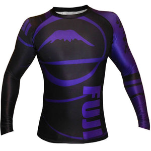 Fuji Sports Freestyle IBJJF Ranked Rashguard Purple Long Sleeve