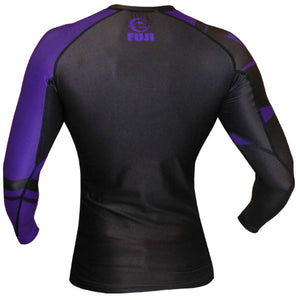 Fuji Sports Freestyle IBJJF Ranked Rashguard Purple Long Sleeve 1