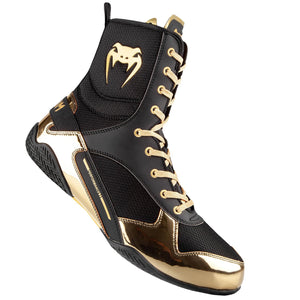 Venum Elite Boxing Boots - Black/Gold - Fightstore Pro
