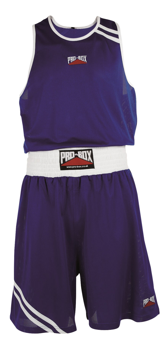 Pro Box Club Essentials Boxing Shorts - Blue