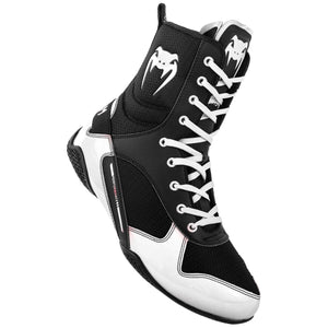 Venum Elite Boxing Boots - Black/White - Fightstore Pro