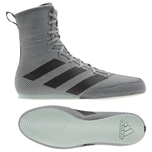 Adidas Box Hog 3 Boxing Boots - Grey