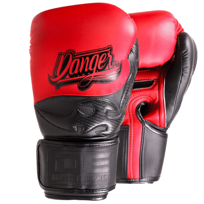Muay Thai Boxing Gloves - Sak Muay by Danger Equipment -  - Red/Black