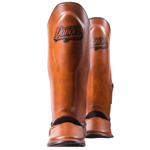 Danger Equipment Thai Legend Shin Guard - Vintage - Fightstore Pro