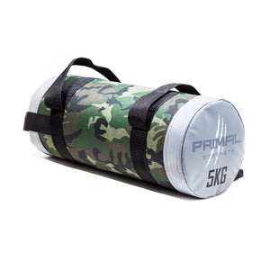 Primal Strength Rebel Commercial Fitness Camouflage Powerbag 5kg (Grey ends)