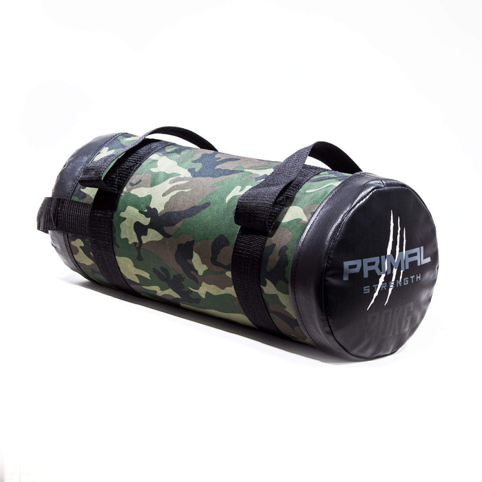 Primal Strength Rebel Commercial Fitness Camouflage Powerbag 30kg (Black ends)