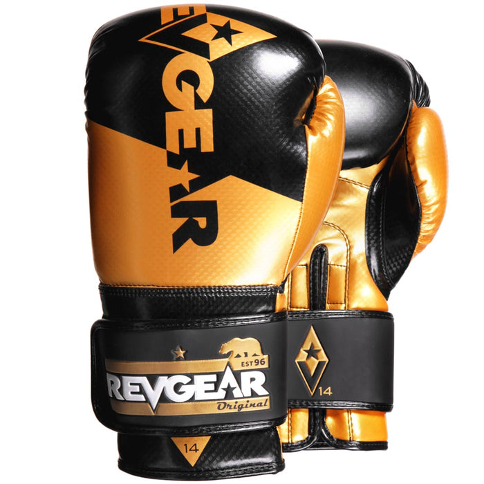 Revgear Pinnacle Boxing Gloves- Black Gold