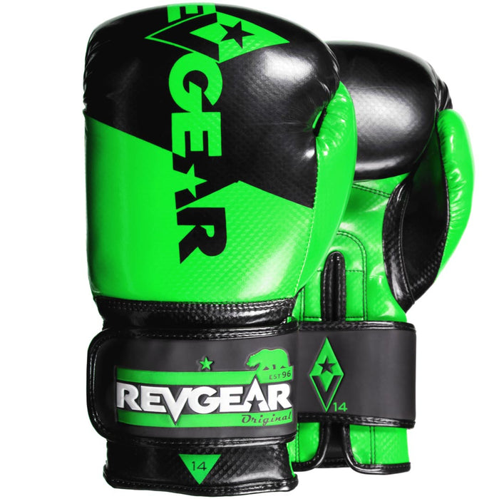 Revgear Pinnacle Boxing Gloves- Black Green