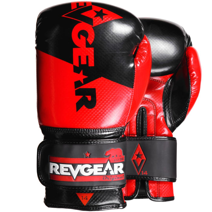 Revgear Pinnacle Boxing Gloves- Red Black