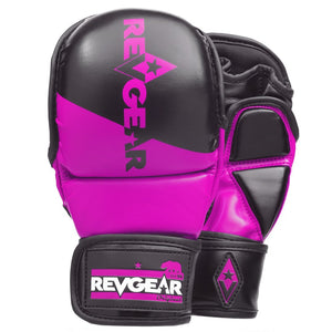 PINNACLE MMA SPARRING GLOVES - BLACK/PINK - Fightstore Pro