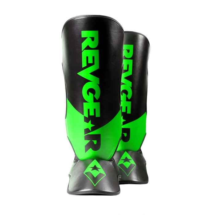 Revgear Pinnacle Shin Guards - Black/Green