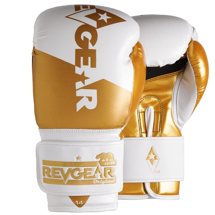 Revgear Pinnacle Boxing Gloves- White Gold