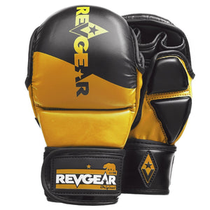 PINNACLE MMA SPARRING GLOVES - BLACK/GOLD - Fightstore Pro