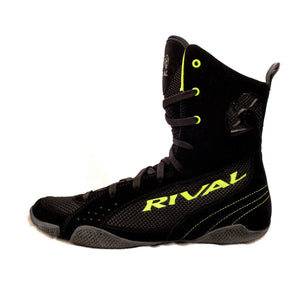 Rival RSX-One Classic Hi-Top Boxing Boots - Black