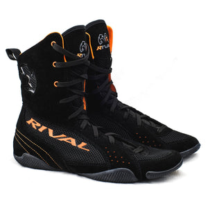 Rival RSX-One Classic Hi-Top Boxing Boots - Black/Orange