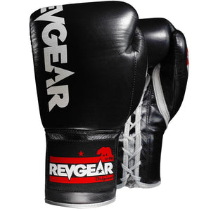 Professional Competition Boxing Gloves - Black/Grey - Fightstore Pro