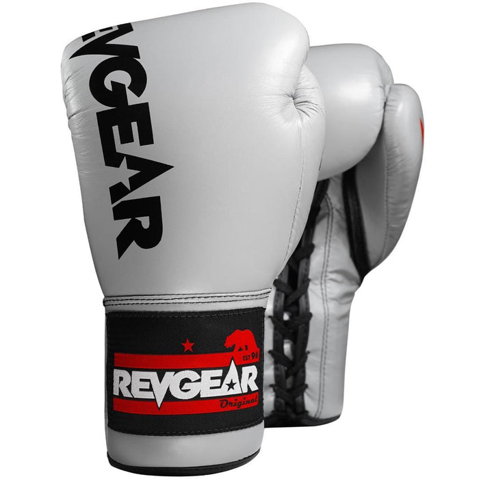 Revgear Professional Competition Boxing Gloves - Grey/Black