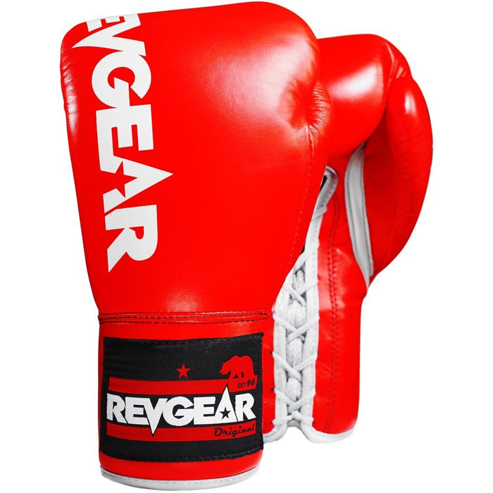 Revgear Professional Competition Boxing Gloves - Red/White