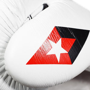 Professional Competition Boxing Gloves - White/Black