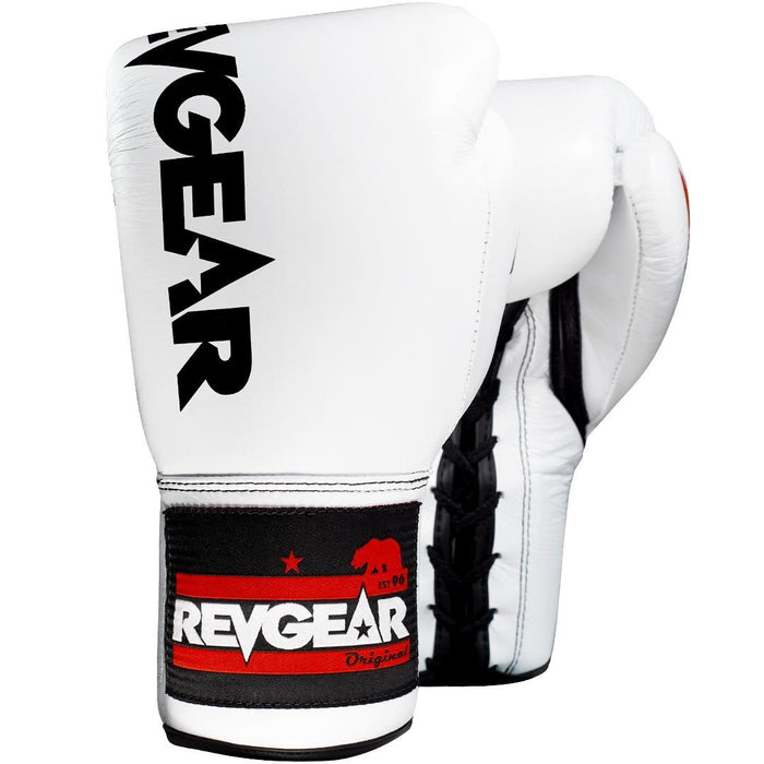 Revgear Professional Competition Boxing Gloves - White/Black