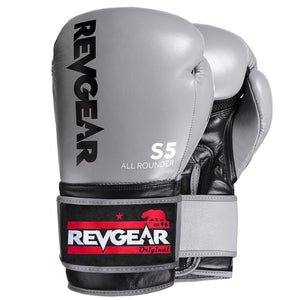 Revgear S5 All Rounder Boxing Glove - Grey Black - Fightstore Pro