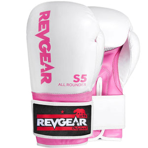 Revgear S5 All Rounder Boxing Glove - White Pink - Fightstore Pro