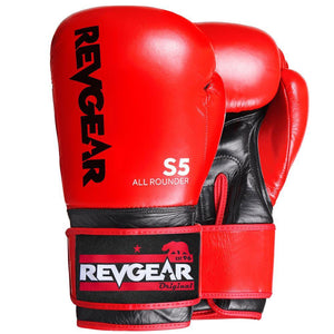 Revgear S5 All Rounder Boxing Glove - Red Black - Fightstore Pro