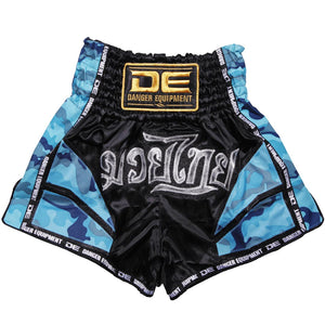 D.E Fit Special Muay Thai Shorts - Blue Camo