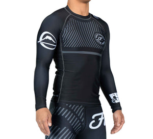 Fuji Sports Script Long Sleeve Rashguard - Grey