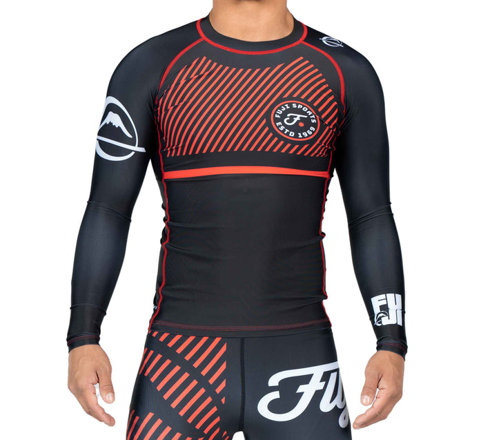 Fuji Sports Script Long Sleeve Rashguard - Red