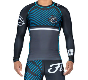 Fuji Sports Script Long Sleeve Rashguard - Blue - Fightstore Pro
