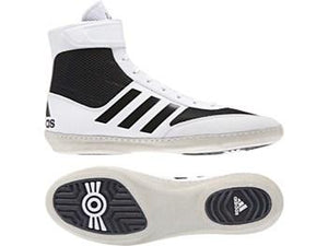 Adidas Combat Speed 5 Wrestling Boots - White - Fightstore Pro