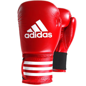 Adidas Performer Leather Boxing Gloves - Red - Fightstore Pro