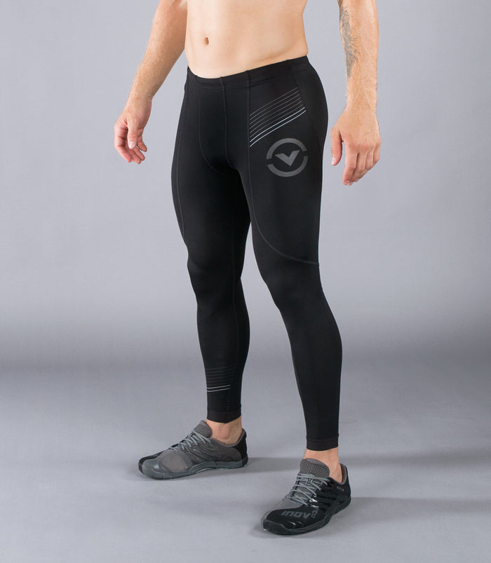 Virus BioCeramic Pinstripe Tech V2 Compression Pant Black