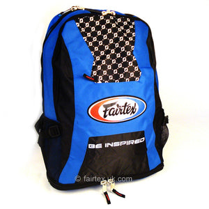 Fairtex BAG4 Blue-Black Rucksack Gym Bag